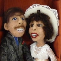 Needle felted Wedding Couple